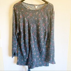 Caslon Long Sleeve Floral Top